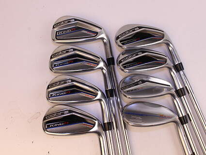 Cobra King F7 One Length Iron Set 5-PW GW SW Stock Steel Shaft Steel Stiff Right Handed 37.0in