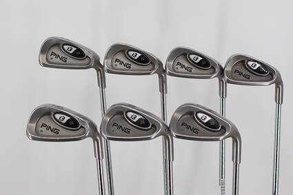 Ping i3 + Iron Set 5-PW Stock Steel Shaft Steel Right Handed Green Dot 37.75in