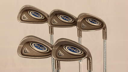 Ping i5 Iron Set 6-PW Stock Steel Shaft Steel Stiff Right Handed Black Dot 37.5in
