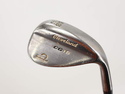 Cleveland CG15 Black Pearl Wedge Lob LW 58° 12 Deg Bounce Stock Steel Shaft Steel Right Handed 35.0in