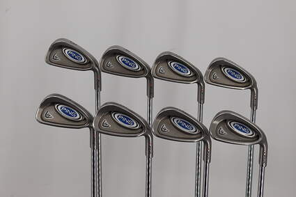 Ping i5 Iron Set 3-PW Stock Steel Shaft Steel Stiff Right Handed Orange Dot 38.75in