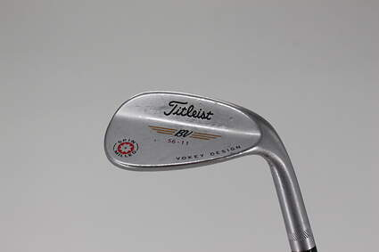 Titleist 2009 Vokey Spin Milled Chrome Wedge Sand SW 56° Stock Steel Shaft Steel Wedge Flex Right Handed 35.0in
