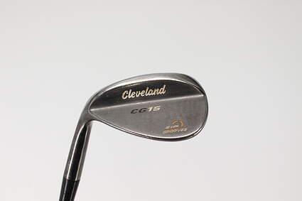 Cleveland CG15 Black Pearl Wedge Sand SW 56° 14 Deg Bounce Stock Steel Shaft Steel Wedge Flex Left Handed 35.5in