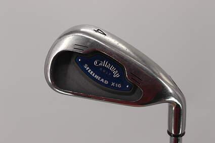 Callaway X-16 Single Iron 4 Iron Callaway Stock Steel Steel Uniflex Right Handed 38.25in
