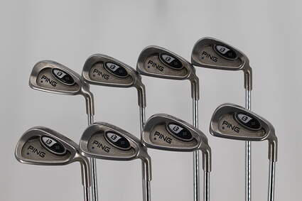 Ping i3 + Iron Set 3-PW Stock Steel Shaft Steel Stiff Right Handed Blue Dot 38.0in
