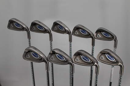 Ping i5 Iron Set 3-PW SW Stock Steel Shaft Steel Stiff Right Handed Green Dot 38.0in