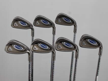 Ping i5 Iron Set 4-PW Stock Steel Shaft Steel Stiff Right Handed White Dot 38.0in
