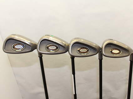 Callaway Big Bertha Tungsten Titanium Iron Set 7-PW Stock Graphite Shaft Graphite Senior Right Handed 38 in