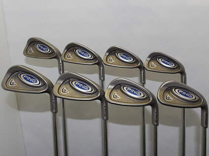 Ping i5 Iron Set 3-PW Stock Steel Shaft Steel Uniflex Right Handed Black Dot 37.5 in