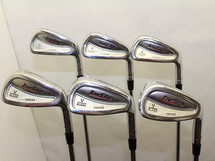 Tour Edge V-Blade Forged Iron Set 5-PW True Temper Dynamic Gold R300 Steel Regular Right Handed 38.5 in
