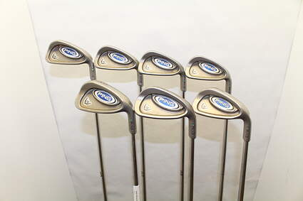 Ping i5 Iron Set 4-PW Stock Steel Shaft Steel Stiff Right Handed Green Dot 38.25 in