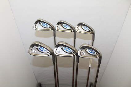 Ping i5 Iron Set 5-PW Stock Steel Shaft Steel Stiff Right Handed Blue Dot 38.5 in
