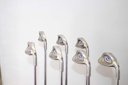 Ping i5 Iron Set 4-PW Stock Steel Shaft Steel Stiff Right Handed Green Dot 37.5in