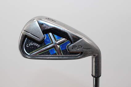 Callaway X-22 Single Iron 4 Iron Stock Steel Shaft Steel Uniflex Right Handed 38.5in