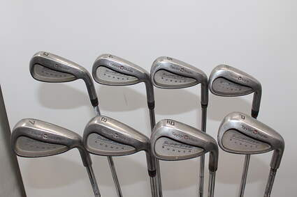 TaylorMade Supersteel Iron Set 3-PW Stock Steel Shaft Steel Stiff Right Handed 37.75in