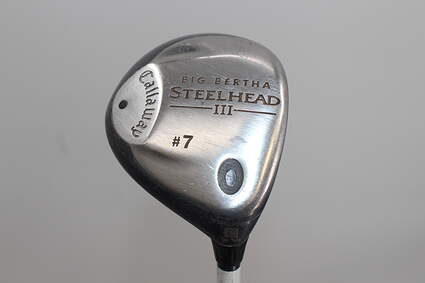 Callaway Steelhead III Fairway Wood 7 Wood 7W Stock Graphite Shaft Graphite Regular Right Handed 41.75in
