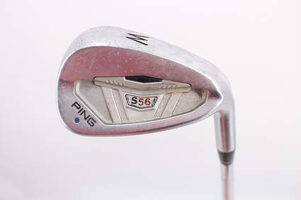 Ping S56 Wedge Pitching Wedge PW Stock Steel Shaft Steel Wedge Flex Right Handed Blue Dot 33.5in