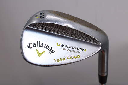 Callaway Mack Daddy 2 Tour Grind Chrome Wedge Lob LW 60° 9 Deg Bounce T Grind FST KBS Tour 120 Steel Stiff Right Handed 35.5in
