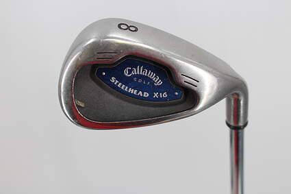 Callaway X-16 Single Iron 8 Iron Callaway Stock Steel Steel Uniflex Right Handed 36.5in