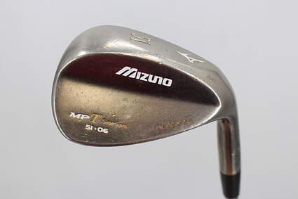 Mizuno MP-T4 Black Nickel Wedge Gap GW 51° 6 Deg Bounce True Temper Dynamic Gold Steel Wedge Flex Right Handed 35.75in