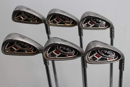 Ping G15 Iron Set 4-9 Iron Ping AWT Steel Stiff Right Handed Black Dot 31.0in
