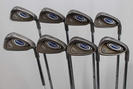 Ping i5 Iron Set 3-PW Stock Steel Shaft Steel Stiff Right Handed Black Dot 39.0in