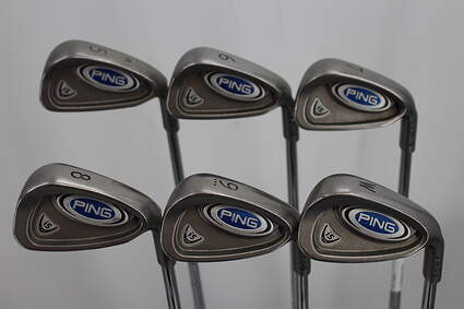 Ping i5 Iron Set 5-PW Stock Steel Shaft Steel Stiff Right Handed Blue Dot 38.0in