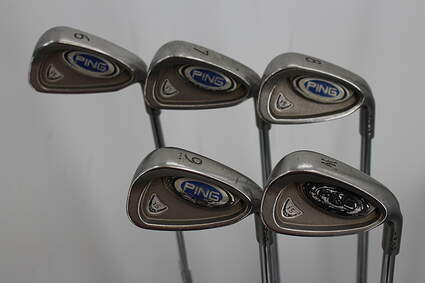 Ping i5 Iron Set 6-PW Stock Steel Shaft Steel Regular Right Handed Black Dot 37.5in