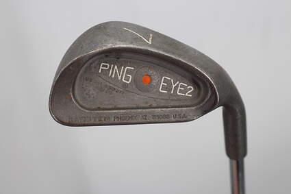 Ping Eye 2 + No + Single Iron 7 Iron Stock Steel Shaft Steel Regular Right Handed Orange Dot 35.0in
