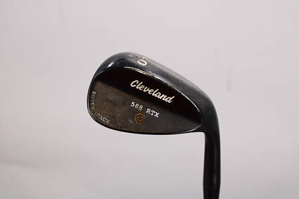 Cleveland 588 RTX Black Pearl Wedge Lob LW 60° 8 Deg Bounce Cleveland ROTEX Wedge Steel Wedge Flex Right Handed 35.25in