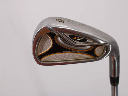 TaylorMade R7 Single Iron 6 Iron 37° Stock Steel Shaft Steel Stiff Right Handed 37.5in