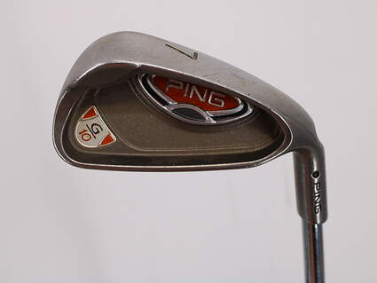 Ping G10 Single Iron 7 Iron Ping AWT Steel Stiff Right Handed Black Dot 37.0in