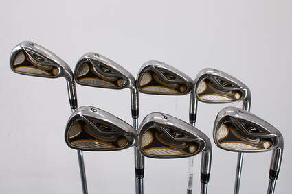 TaylorMade R7 Iron Set 5-GW Stock Steel Shaft Steel Stiff Right Handed 38.0in