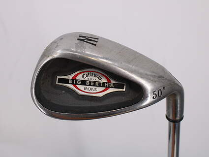 Callaway 2002 Big Bertha Wedge Gap GW 50° Callaway Stock Steel Steel Uniflex Right Handed 35.5in