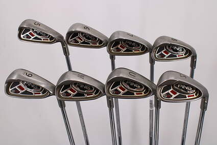 Ping G15 Iron Set 5-PW GW SW Ping AWT Steel Stiff Right Handed White Dot 38.0in