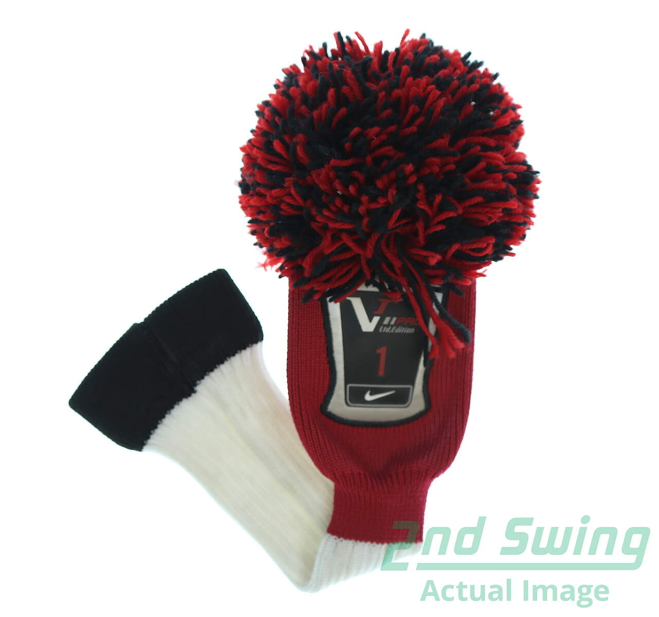 b18d2534033 Used Nike VR Pro Limited Edition Pom Pom Driver Headcover Red White Black