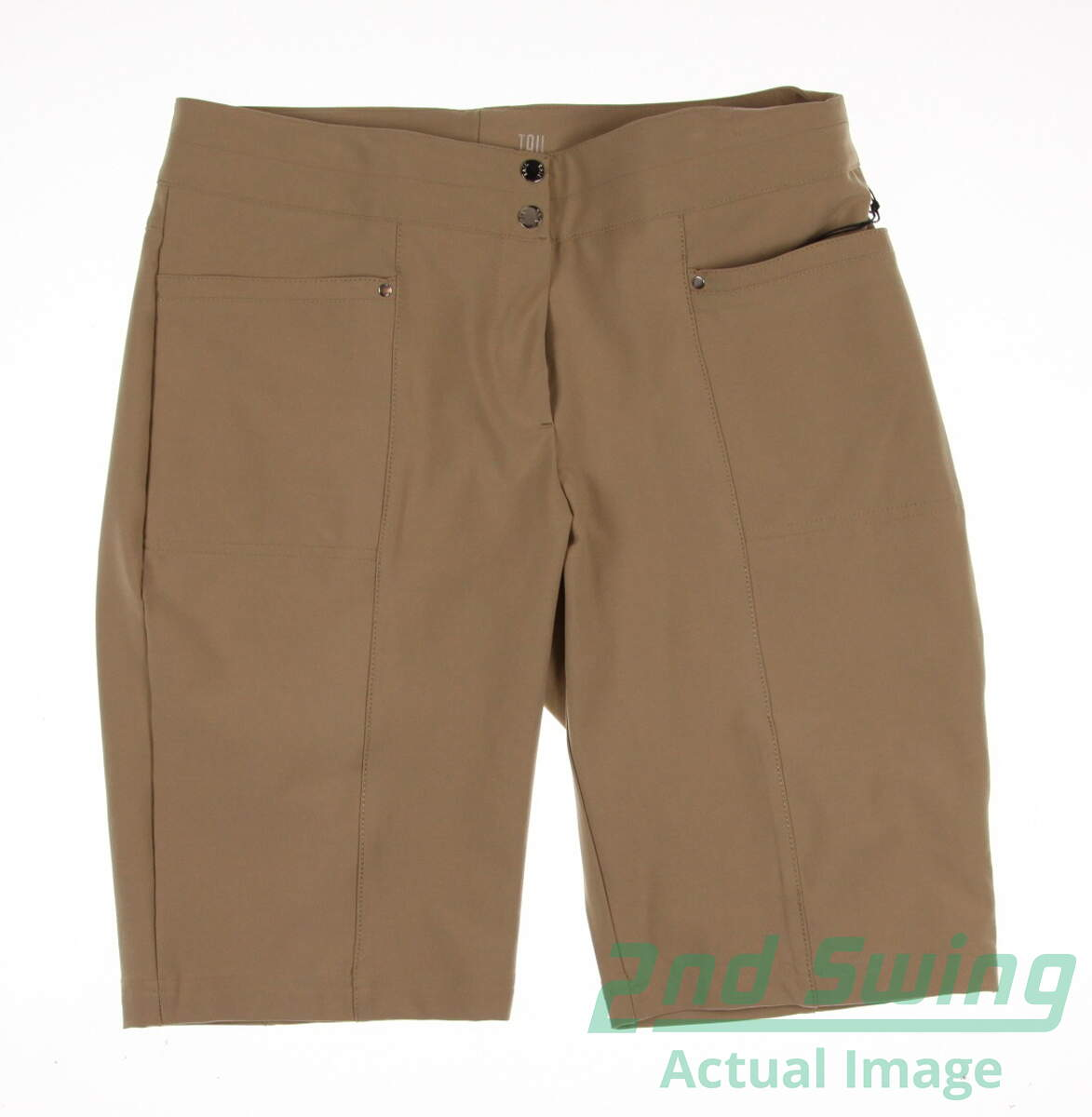 New Womens Tail Golf Shorts Size 8 Khaki Msrp 89 2nd