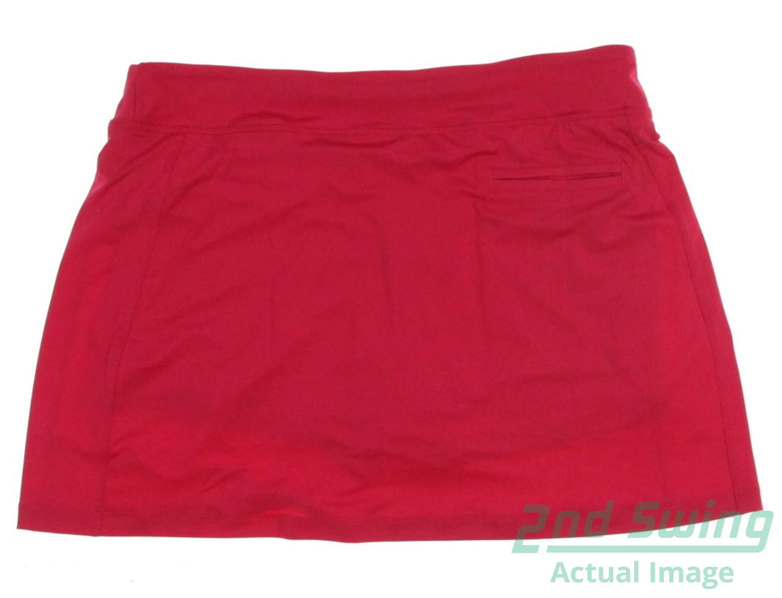 New Womens Puma Golf Solid Knit Skort Size Medium M Rose Red MSRP $55 570561  07