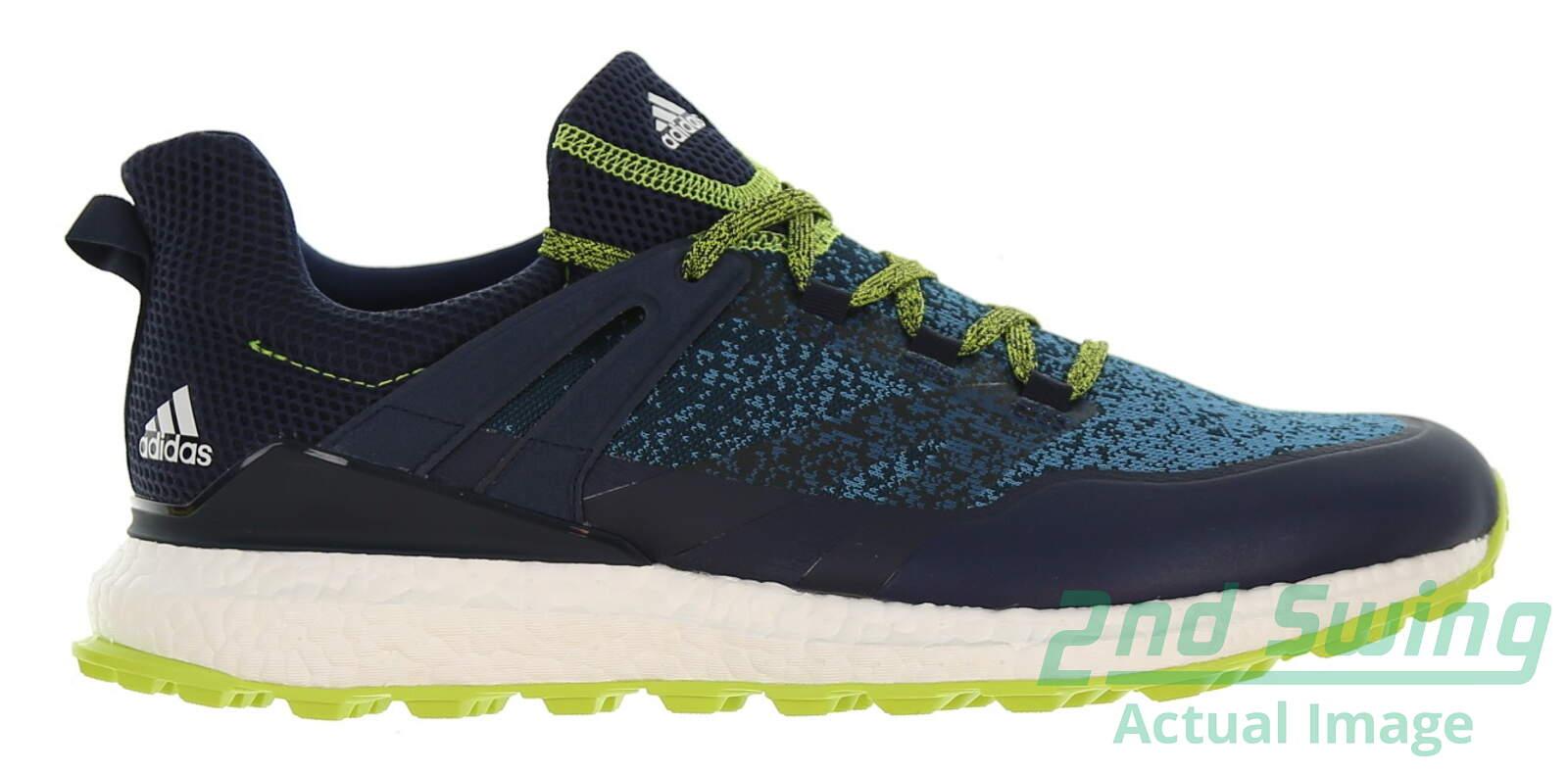 New W O Box Mens Golf Shoe Adidas Crossknit Boost Medium 9 5 Blue Lime Msrp 160 Golf Footwear 2nd Swing Golf