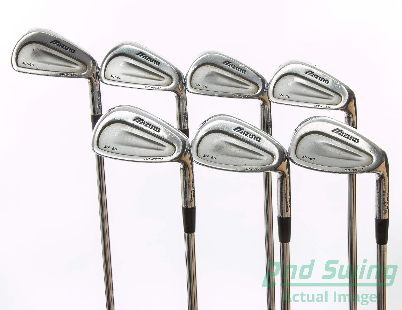 Mizuno Mp 60 Iron Set 4 Pw Stock Steel Shaft Regular Right Handed 37 5 Used Golf Clubs