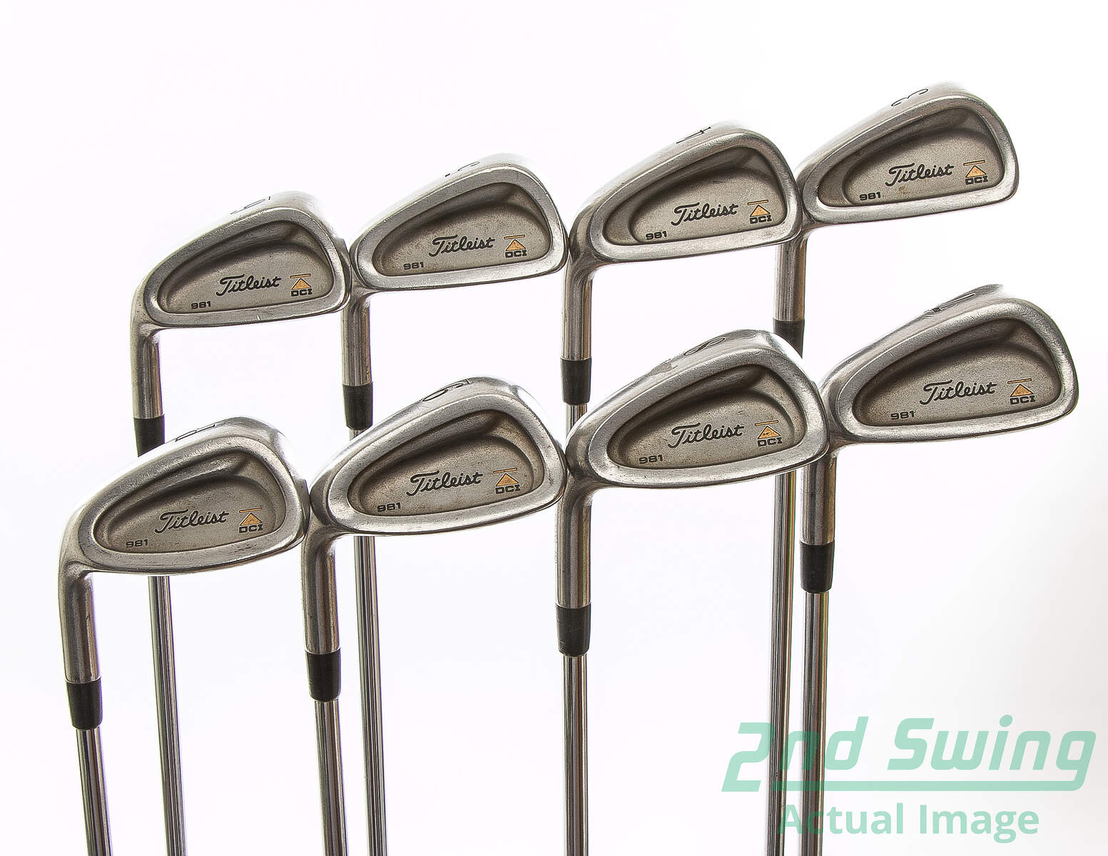 Used Titleist DCI 981 Iron Set 3-PW Stock Steel Shaft Steel Regular