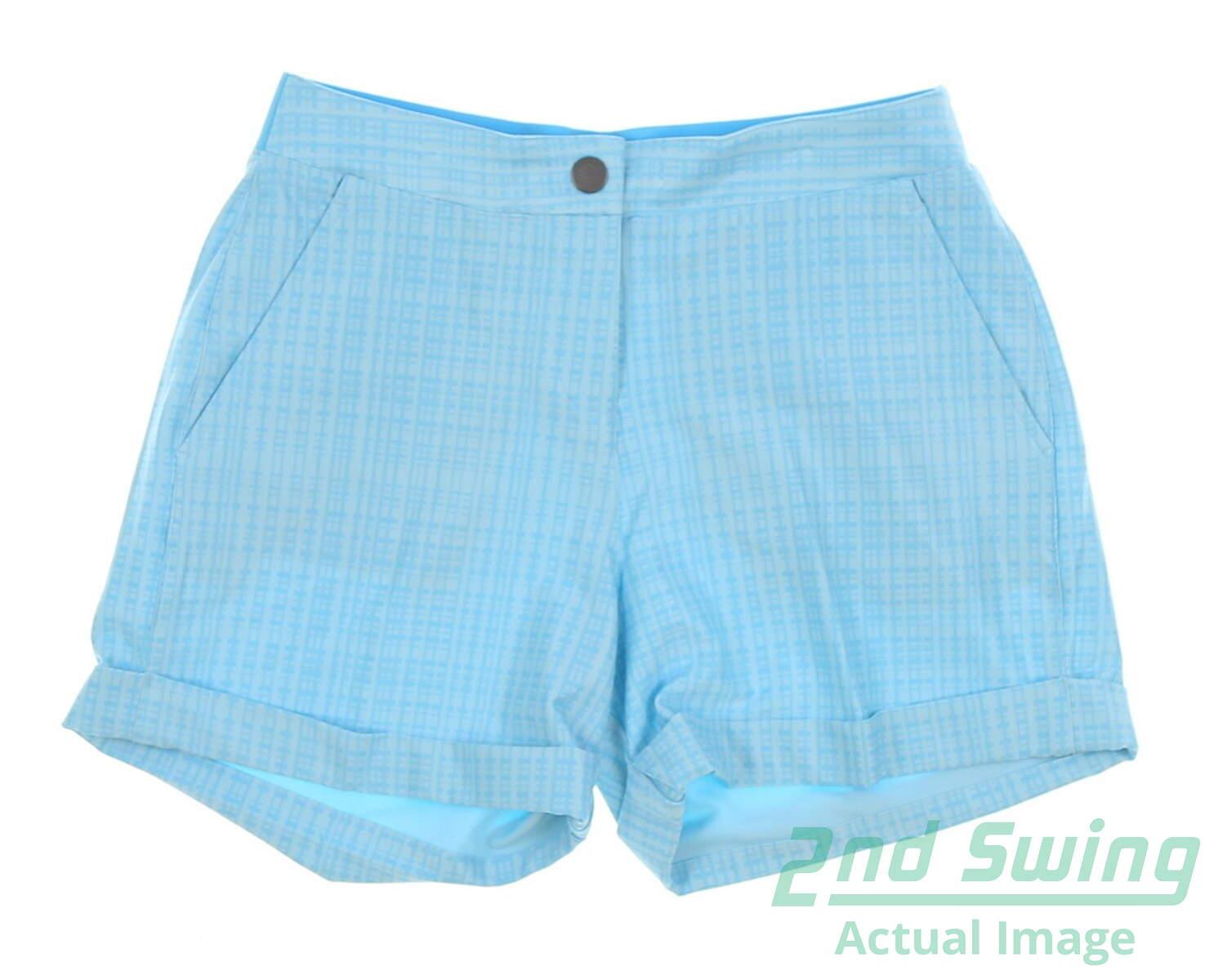 New Womens Puma 2018 Soft Plaid Golf Shorts Size Small S Blue MSRP  65  574814 14763e22bf