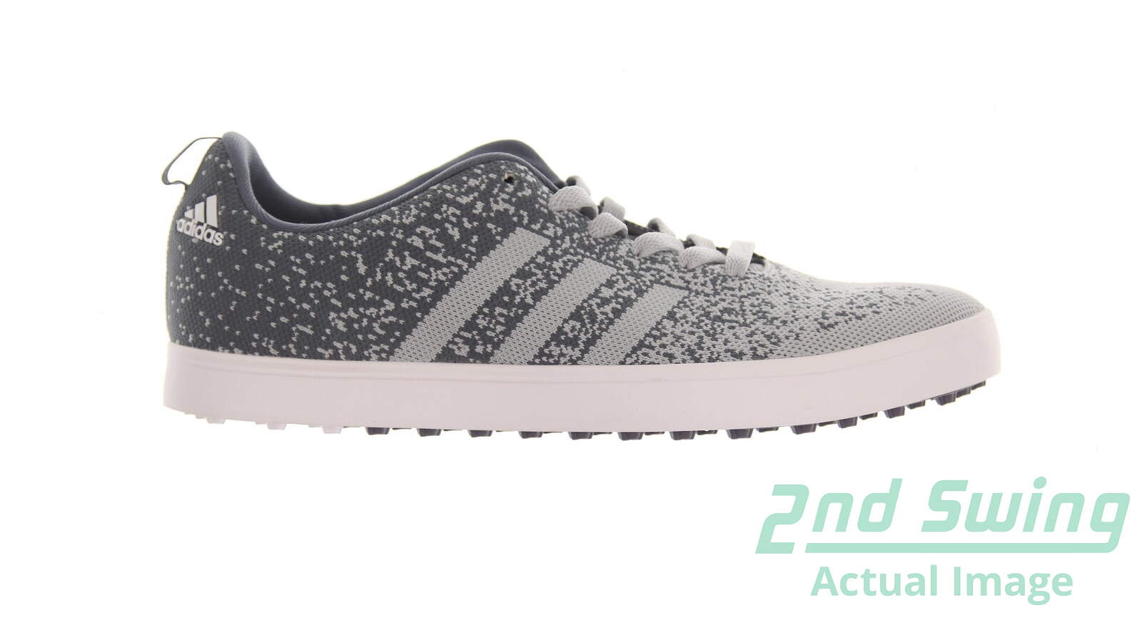 New Mens Golf Shoe Adidas Adicross Primeknit Medium 9 5 Gray Msrp 115 F33395 Golf Footwear 2nd Swing Golf