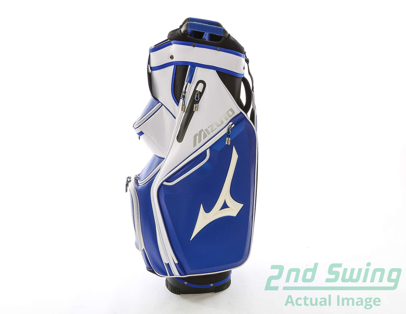 aaccde5b7ff8 Used Mizuno Pro Cart Bag White Blue Black Above Average Condition ...