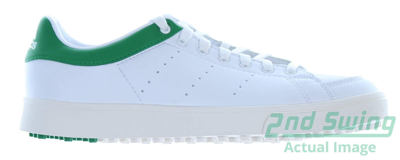 f154863eda8a New Junior Golf Shoe Adidas Jr Adicross Classic Medium 5 White Green MSRP   60 - Golf Footwear