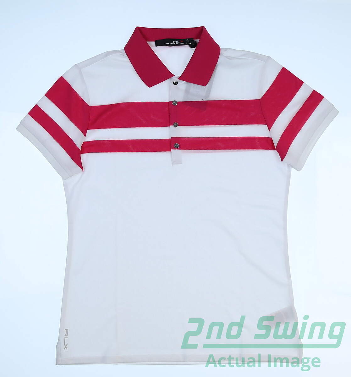 New Womens Ralph Lauren Rlx Polo Small S Whitepink Msrp 90 2nd