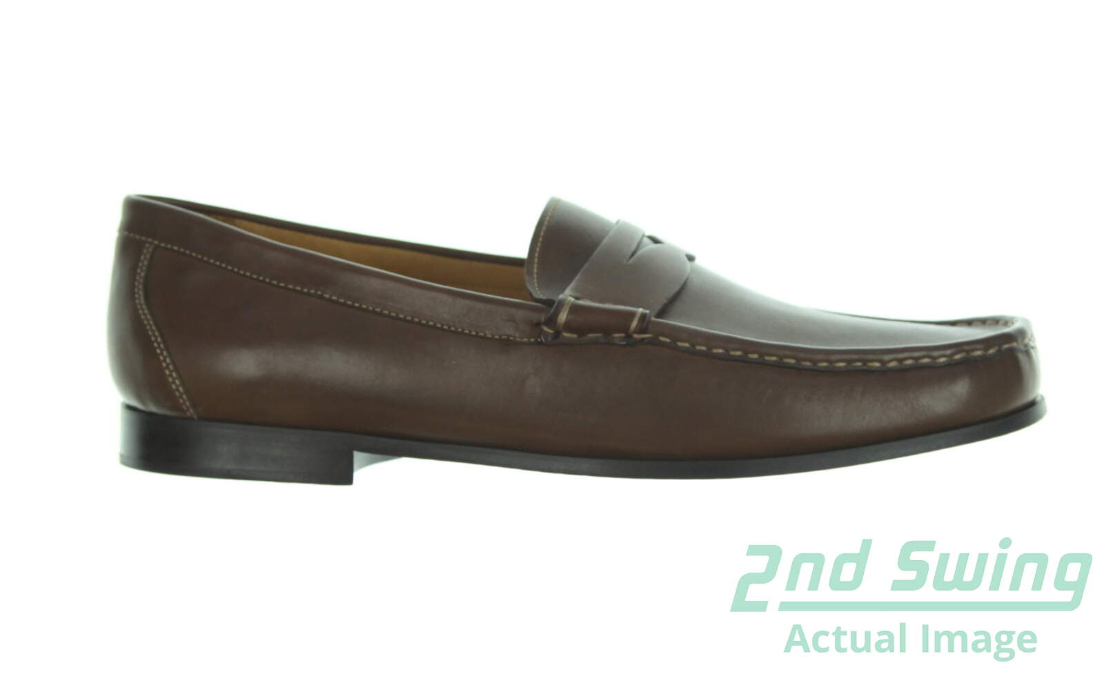 3faed232e61 New Mens Golf Shoe Peter Millar Penny Loafer 8 Chocolate MSRP  300 - Golf  Footwear