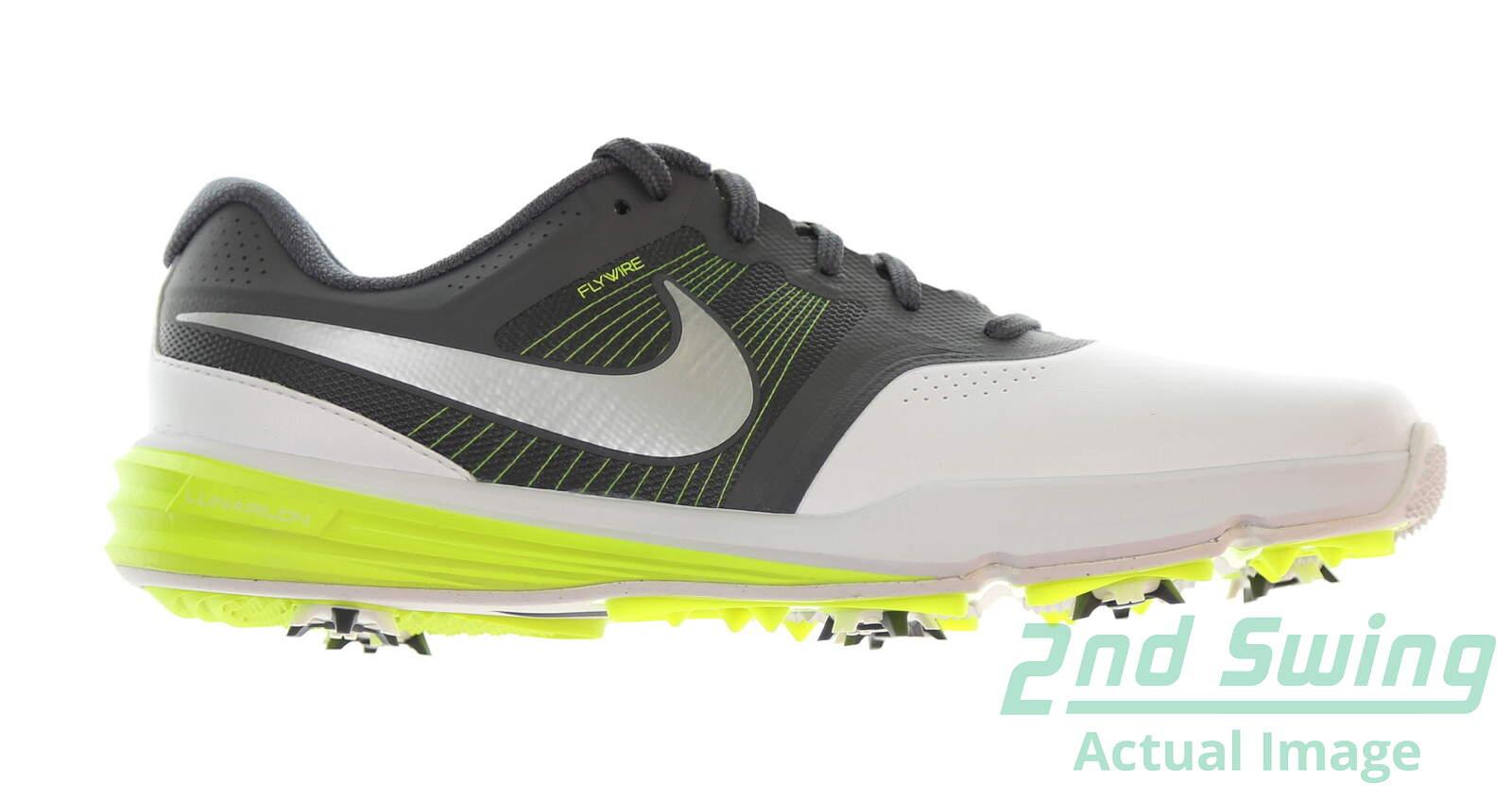 34a75e48bdcfe New Mens Golf Shoe Nike Lunar Command 9.5 White/Grey MSRP $150 - Golf  Footwear