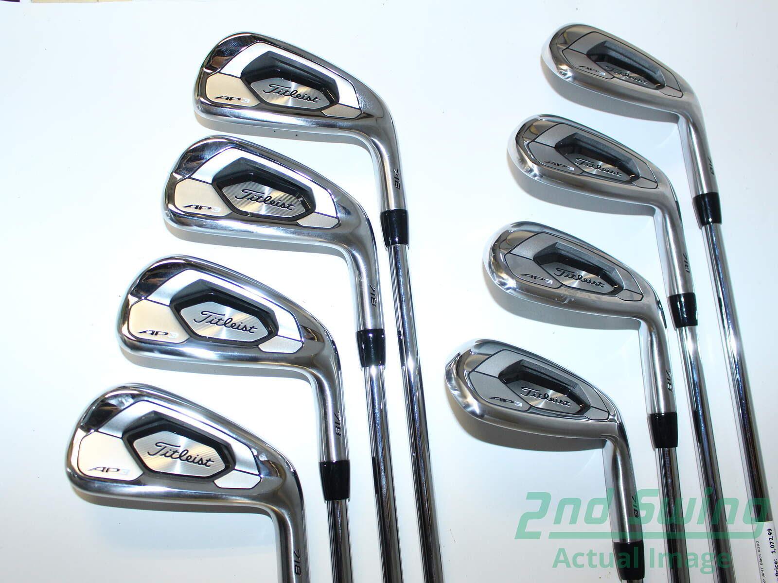 Used Titleist 718 AP3 Iron Set 4-PW GW True Temper AMT Black R300