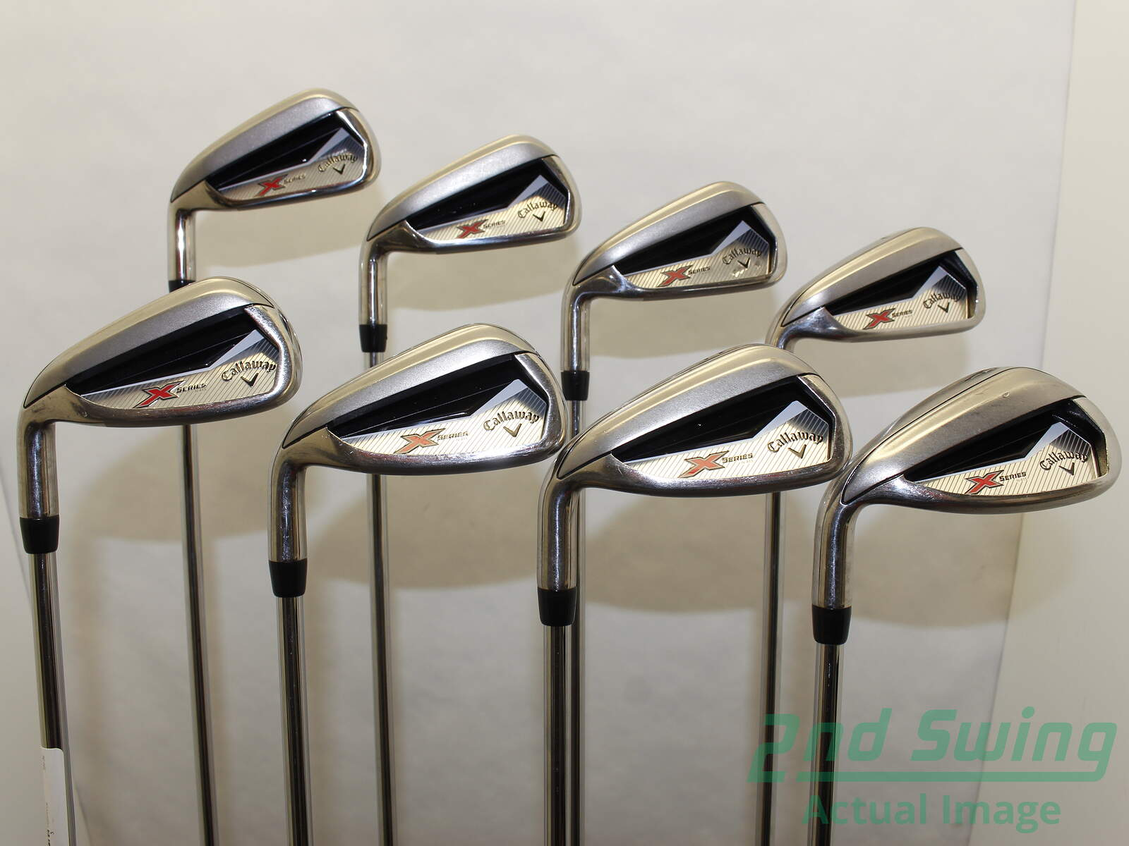 Used Callaway X Series N415 Iron Set 4 Pw Gw Stock Steel Shaft Steel
